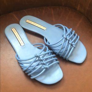 ZARA Trafaluc blue slides sandals 37